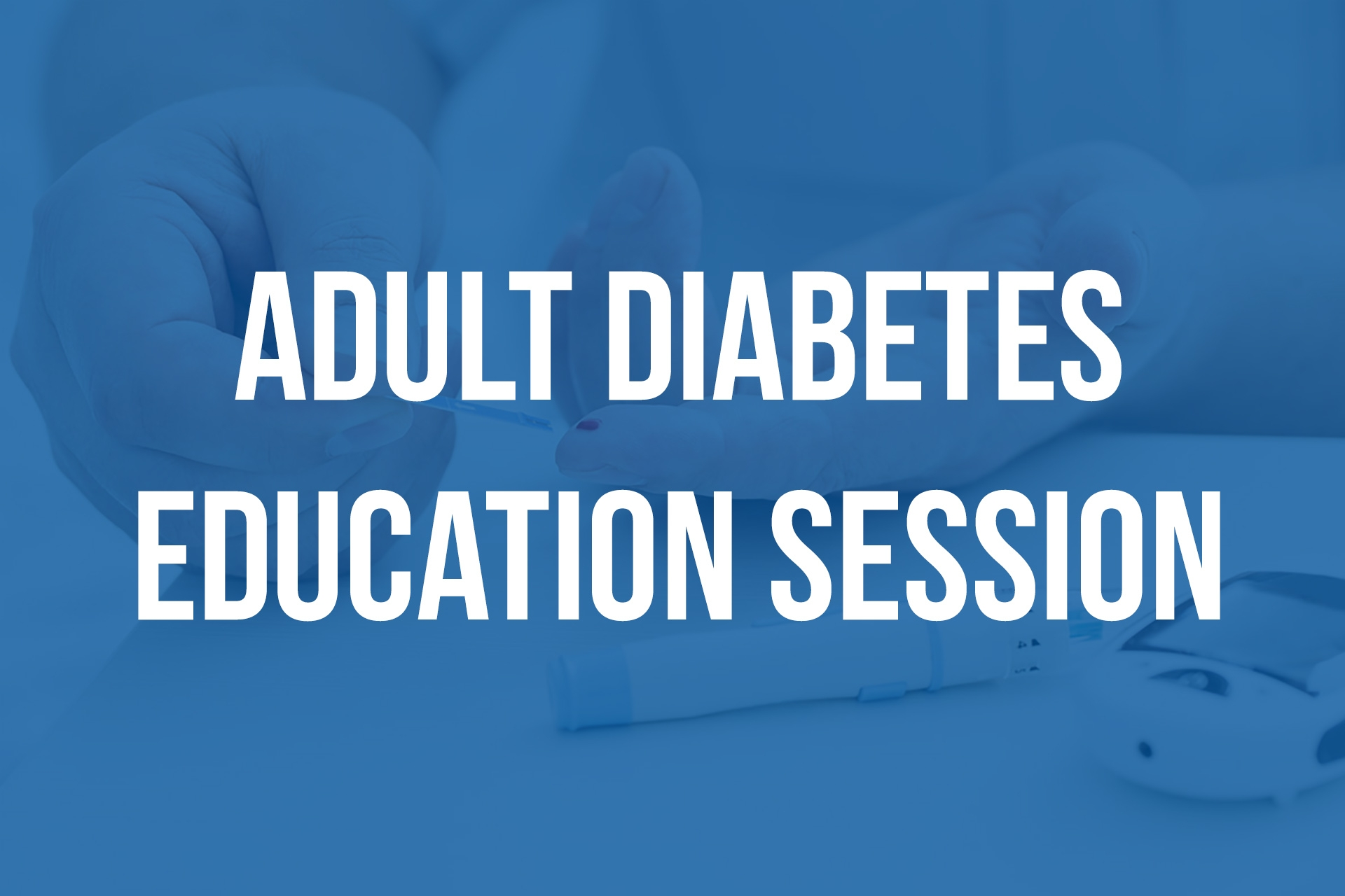 Adult diabetes education session